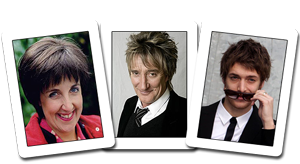 Julie Hesmondhalgh, Rod Stewart and Paolo Nutini