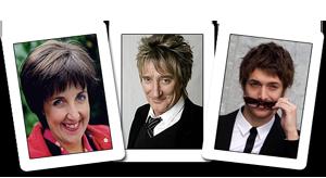 Julie Hesmondhalgh, Rod Stewart and Paolo Nutini